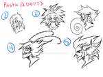 Zero Creepypasta Headbust Adopts (5 OPEN) by Euphobea