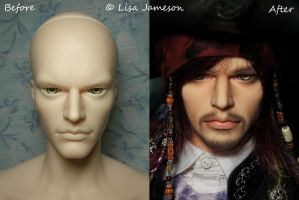 Iplehouse Dexter BJD Before and After by PepstarsWorld