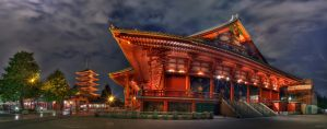 Senso-Ji at Night by frenchbear