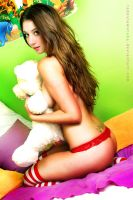 Marlena with teddy bear  .1. by radoslawstuba