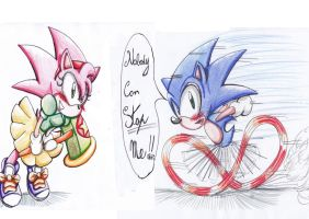 Sonic and Amy you can stop me? by Amely14128