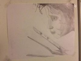Edward Scissorhands Drawing by Chaoslink1