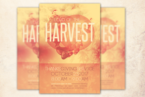 Lord of the Harvest Church Flyer Template by loswl