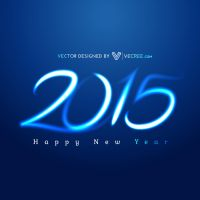 2015 New Year Free Vector by vecree