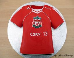 Liverpool T-shirt Cake by ginas-cakes