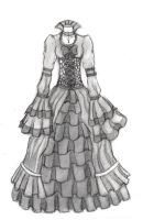 Gothic Dress Design 1 by red-stained-december