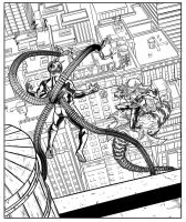 Green Goblin vs Doc Ock by WillSliney