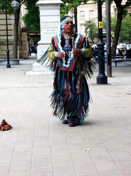 A Lost Native American by TR-Wolf