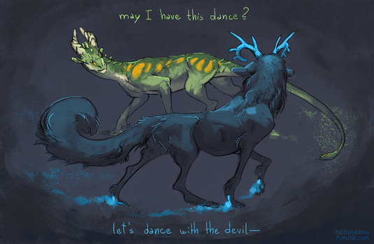 Let's dance with our demons by Nebquerna