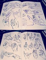Hand Practice #2-3 by YamPuff