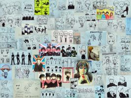 When It's 64: My Anime Beatles Art Collage by PepperMoonFlakes