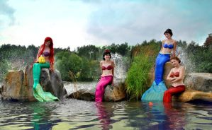 mermaids group cosplay by Nemu013