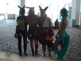 Otakon 2012 Umbreon Eevee Flareon Vaporeon by Ho-ohLover
