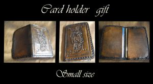 Commission : card holder small size by Deakath