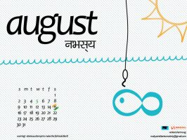 August Calender Wallpaper by pointblankcreativity