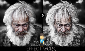 Painting effeck work Photoshop by AyKuTGraphic