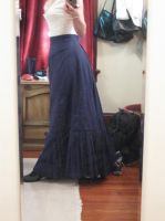 WIP--victorian work skirt by hollymessinger