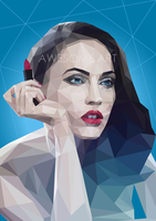 Megan Fox on Triangulation Vector by NugrohoEW