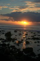 sunset at tanjung lesung by esthetic-of-sight