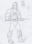 TRDL WIP He-Man Redesign by TRDLcomics