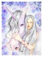 Unicorn And Maiden by mainili
