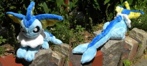 Plush Vaporeon by PeaceFluffles