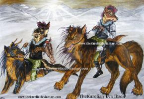 Wolf Riders by TheKarelia