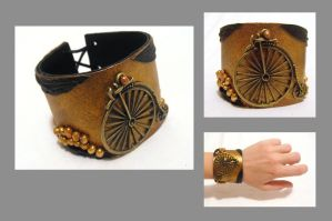 Leather bike bracelet by julishland