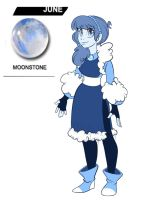 Bluebies gemsona Moonstone by BlueKazenate