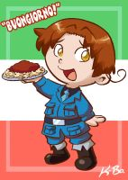 Hetalia Italy Art Card by kevinbolk