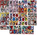 Most of the Capt America sketchcards by gammaknight