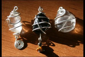 Wire Wrapped Stones Commission by NoraBlansett