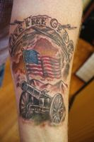 Live Free or Die Cannon Tattoo by seanspoison