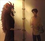 the demon and the attendant by FastPuck