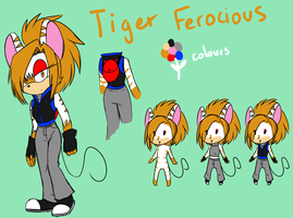 Tiger Ferocious reference sheet by SharletTheCat