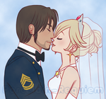 Snake + Rosalina - Wedding by Porcelain-Requiem