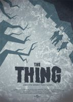 The Thing movie poster by OllieBoyd