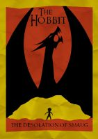 The Hobbit DoS Minimalist Poster by Taking-The-Biscuit