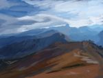 Matte Painting Study #4- Mountains by ninjaisonfire