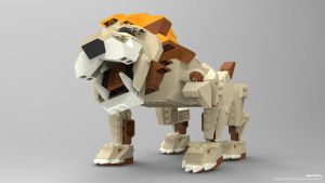 Lego Lion 3D Model by dreamcore-creation