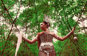 Iban lady in a virgin forest of borneo island by stevie1985