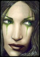 ACEO -- Emerald Enchantment by ElvenstarArt