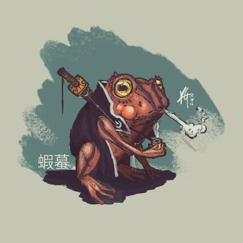 Japanese Toad 'Gama' by KxG-WitcheR