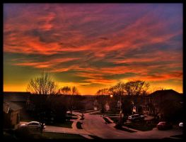 Summer Skies, Winter Streets by FramedByNature