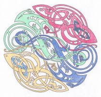 Celtic Colored Lineart by SunlightRyu