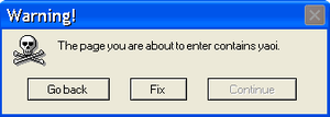 Yaoi Error Message by Justtosee123