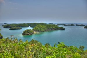 Hundred Island HDR by rbaluyos