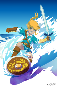 Link Snowboarding - Breath of the Wild by zimagzeravla