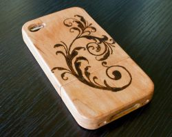 Steampunk iPhone Wood Case by CrystalKittyCat