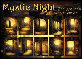 Mystic Night backgrounds by KlaraKay